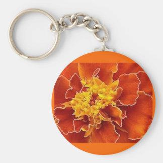Naranja de la maravilla llavero redondo tipo pin