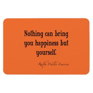 Naranja de la nectarina de la cita de la felicidad imanes flexibles