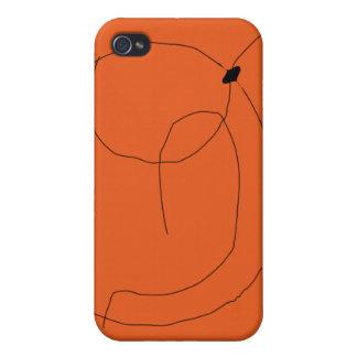 Naranja de la pulga de agua iPhone 4 carcasa