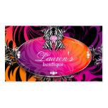 Naranja de la púrpura del arco de la joyería de la plantilla de tarjeta de visita