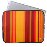 Naranja de la raya manga del ordenador portátil de fundas ordendadores