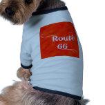 Naranja de la ruta 66 camisa de mascota