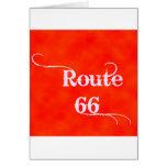 Naranja de la ruta 66 felicitación