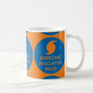 NARANJA de la ruta de la evacuación del huracán Taza De Café