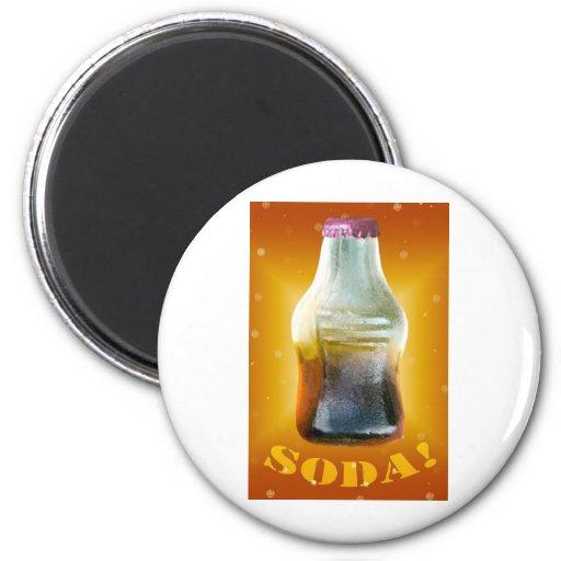 Naranja de la SODA Imanes Para Frigoríficos