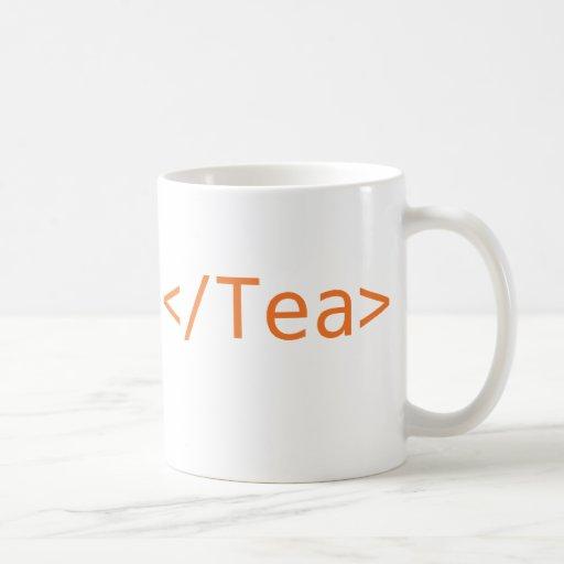 Naranja de la taza del té