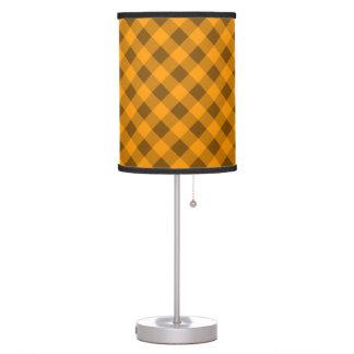 Naranja de la tela escocesa 2 lámpara de mesilla de noche