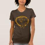 Naranja de Lambtastic en Brown T Camisetas