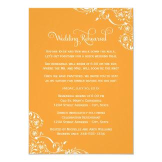 Naranja de las invitaciones el | del ensayo y de invitacion personalizada