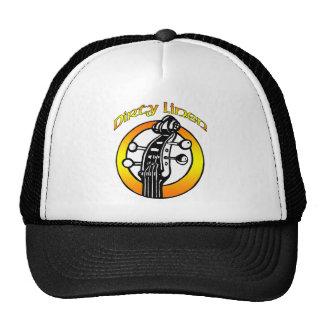 Naranja de lino sucio y amarillo del logotipo del  gorras de camionero
