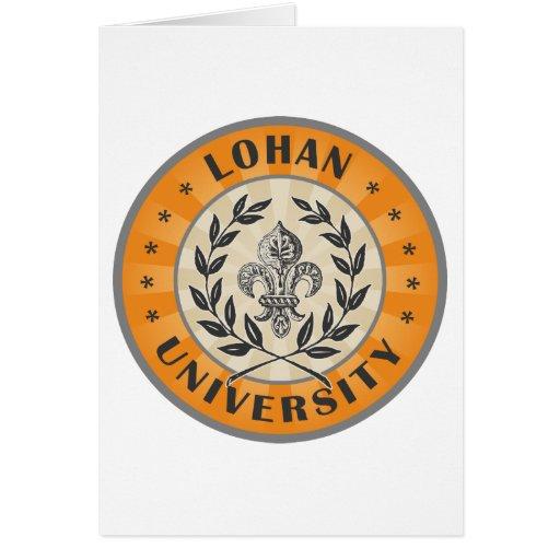 Naranja de Lohan de la universidad Felicitación