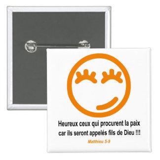 Naranja de Matthieu 5-9 Smilley noir Pins