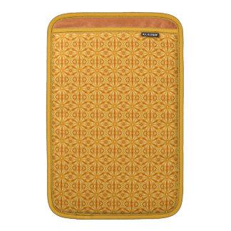 Naranja de moda, modelo amarillo del fractal 11 funda macbook air
