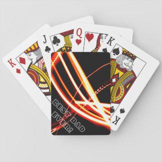 Naranja de neón 2 cartas de póquer