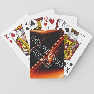 Naranja de neón baraja de cartas