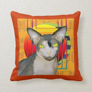 Naranja de Ninja del gato de la almohada el |