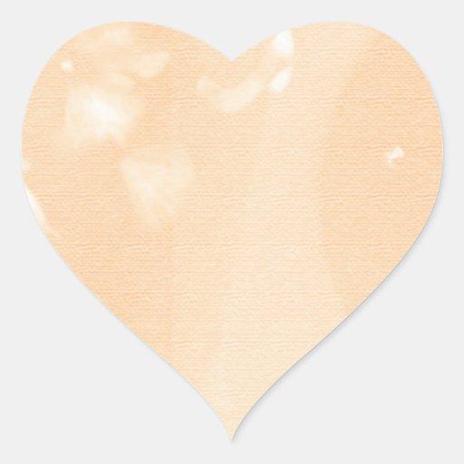 Naranja de oro llano de Brown Pegatina De Corazón
