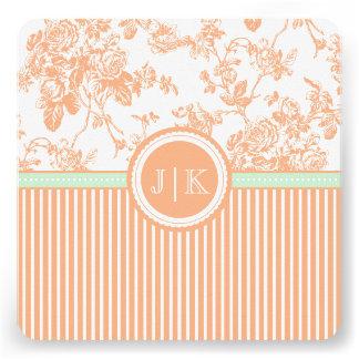 Naranja de PixDezines/toile coralino/rosas Comunicado
