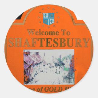 Naranja de Shaftesbury Pegatina Redonda