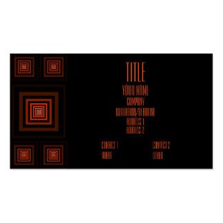 Naranja de Squareception (modelo cuadrado) Tarjetas De Visita