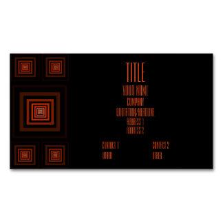 Naranja de Squareception (modelo cuadrado) Tarjetas De Visita Magnéticas (paquete De 25)