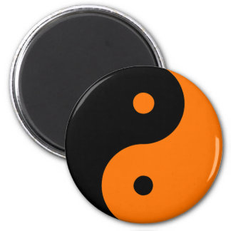 Naranja de Taijitu del chino de la muestra del Tao Imanes De Nevera
