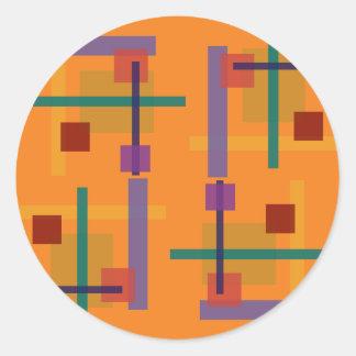 Naranja del Abstractionist Etiqueta Redonda