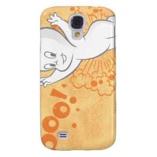 Naranja del abucheo de Casper Funda Para Galaxy S4