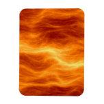 Naranja del agua ardiente y fondo rojos del amaril imán de vinilo
