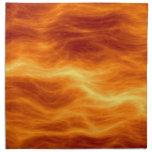 Naranja del agua ardiente y fondo rojos del amaril servilletas de papel