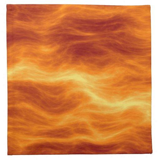 Naranja del agua ardiente y fondo rojos del amaril servilleta de papel