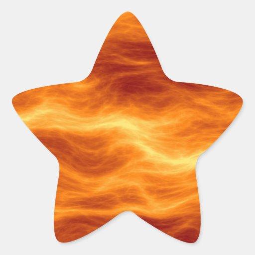 Naranja del agua ardiente y fondo rojos del colcomanias forma de estrella