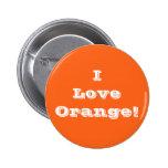 Naranja del amor del botón I Pin
