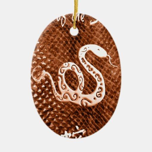 Naranja del Año Nuevo de chino de la piel de serpi Ornamento Para Arbol De Navidad