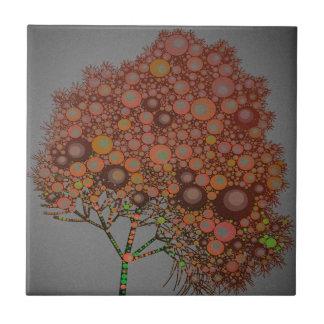 naranja del árbol del efecto azulejo ceramica
