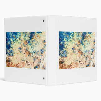 Naranja del árbol y fondo abstractos del azul