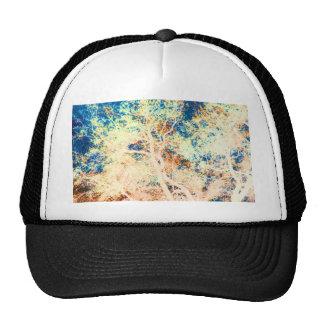 Naranja del árbol y fondo abstractos del azul gorra