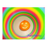 Naranja del arco iris tarjeta postal