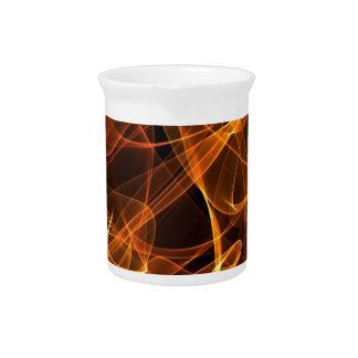 naranja del arte de la llama jarras