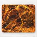 naranja del arte de la llama tapetes de ratón