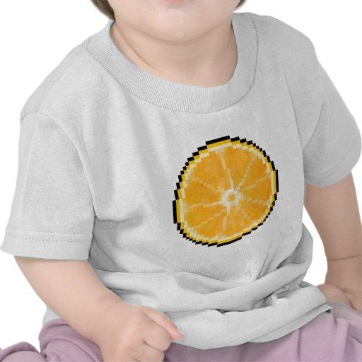Naranja del arte del pixel camiseta