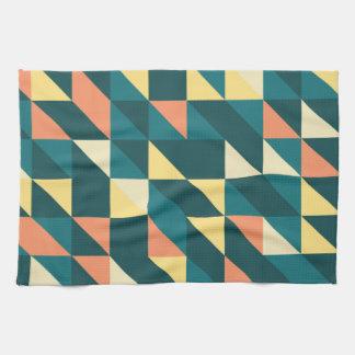 Naranja del azul de la rejilla del triángulo toallas