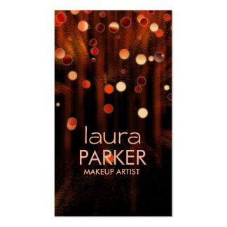 Naranja del brillo de la belleza del artista de plantillas de tarjetas de visita