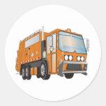 naranja del camión de basura 3d pegatinas
