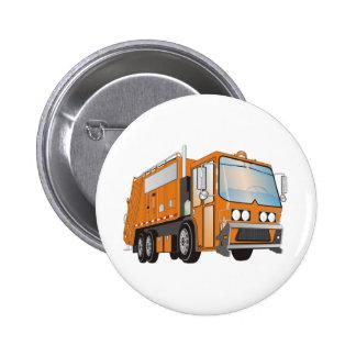 naranja del camión de basura 3d pin