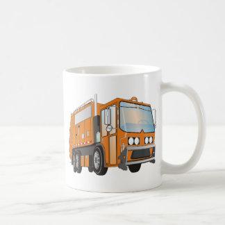 naranja del camión de basura 3d taza