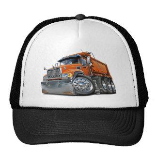 Naranja del camión volquete de Mack Gorro De Camionero