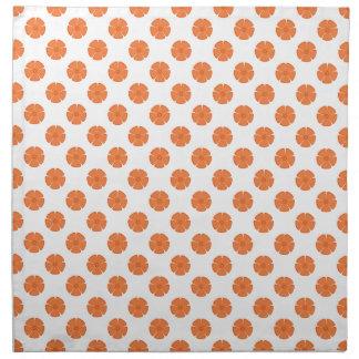 Naranja del Celosia del estampado de plores 2 Servilleta De Papel