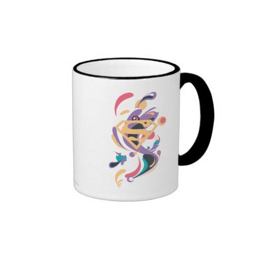 Naranja del chapoteo del color taza de café