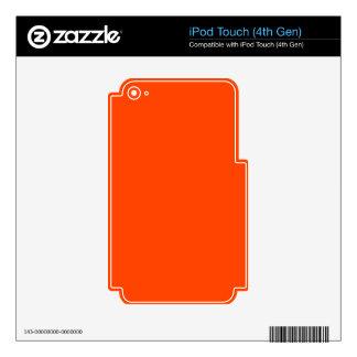 Naranja del color de fondo iPod touch 4G calcomanía